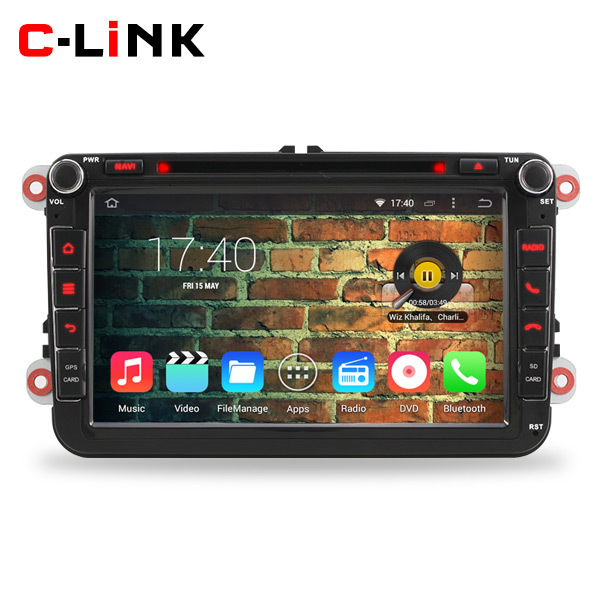 4 Core 1024*600 Screen Android 4.4 Car DVD Video Radio Player For VW Volkswagen Golf 4 5 Polo Passat B6 Jetta Tiguan Skoda Seat(China (Mainland))