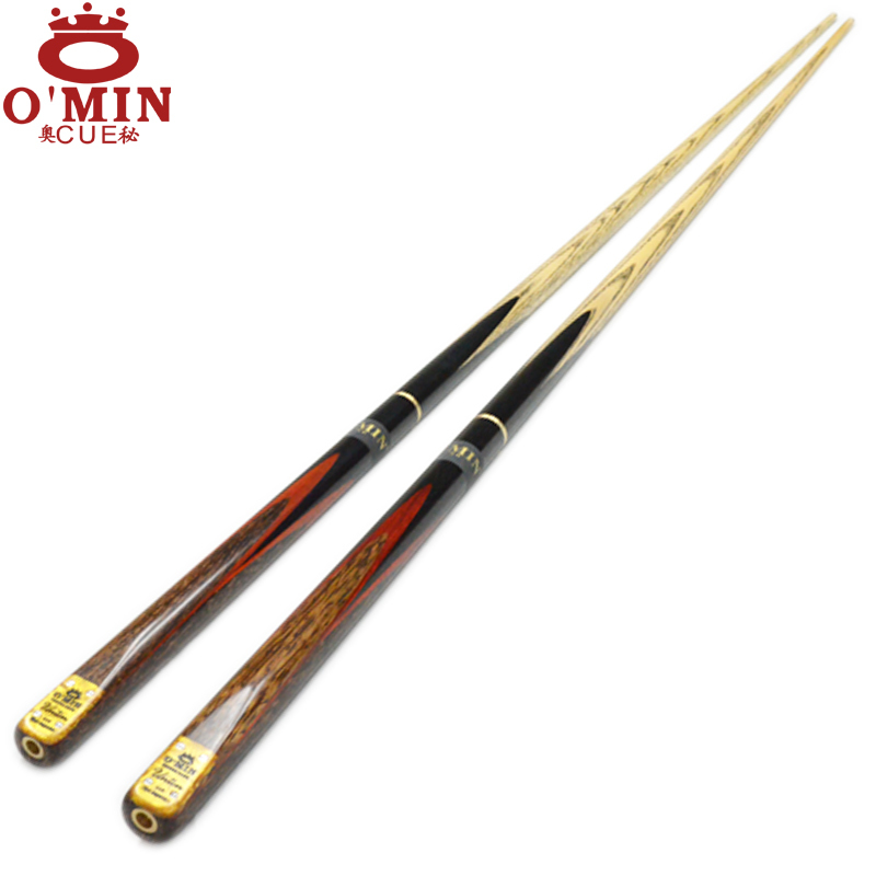 Omin Union billiard pool cue 10mm cue tips Ash wood 3/4 Joint cue stick Snooker cues billiard sticks,free shipping by DHL(China (Mainland))