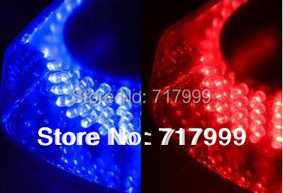 Free Shipping BLUE & RED 240 LED auto car Emergency Hazard Warning Mini bar Strobe Light w/ Magnetic Base Car Auto DC 12V(China (Mainland))