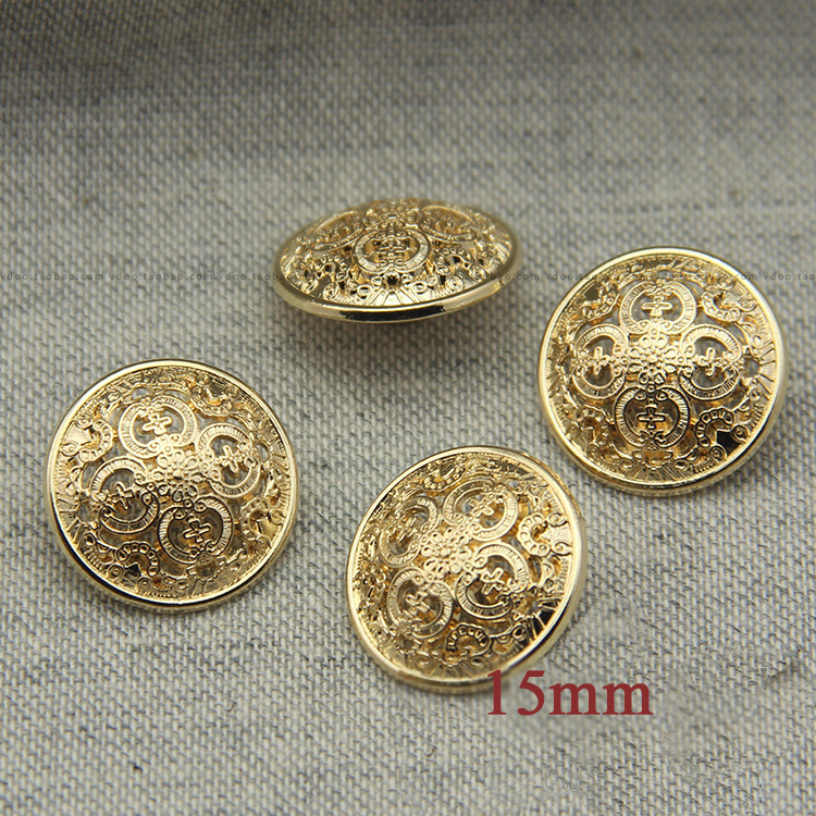 ON SALE! Nice pierced buttons 15mm,the royal style light gold color buttons for garments,sewing buttons(SS-636-1)(China (Mainland))
