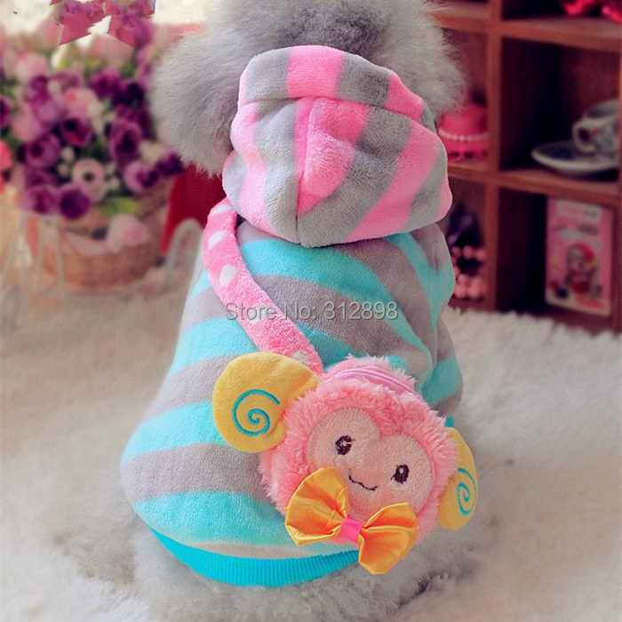 Yellow Pink Winter Outfit For Dog And Pet With Sheep Purse For Puppies Small Animals PT99 Dachshund Poodle Cats Clothes Products(China (Mainland))
