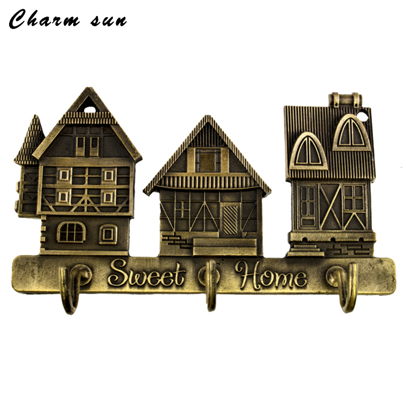 Creative furniture.Exclusive House Design Lovely hooks the Metal charm hooks for clothes Size 7*7*2CM happy family Holiday Gifts(China (Mainland))