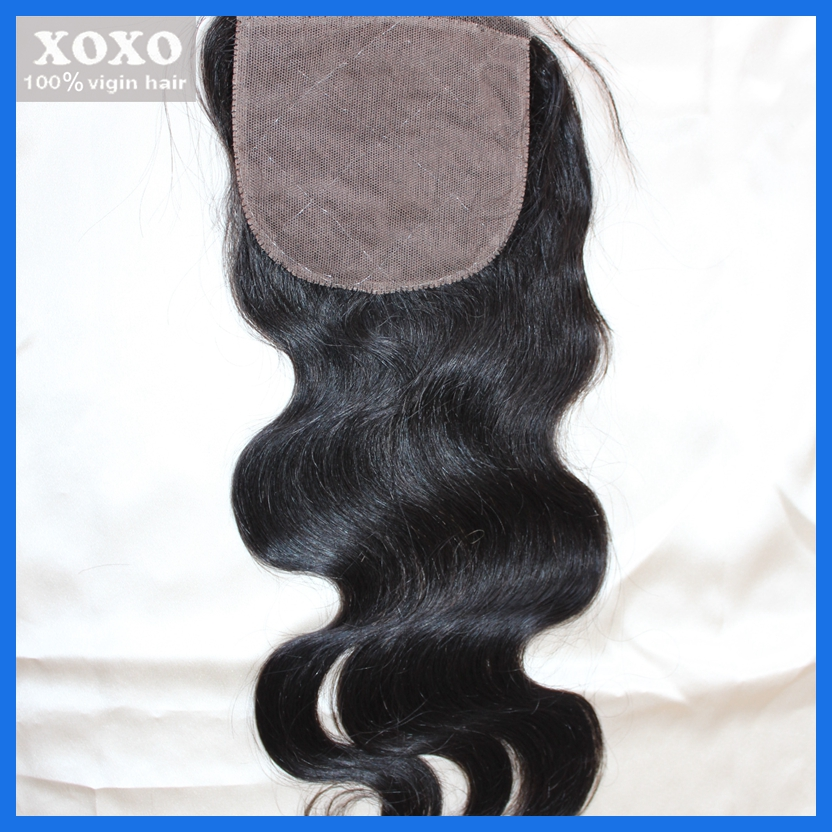 Silk Base lace closure Peruvian Virgin Hair Body Wave 100% Human Hair,4X4,Free style,Cheap price Free Shipping<br><br>Aliexpress