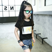 Buy Children's T Shirt Teenagers 4 5 6 7 8 9 10 11 12 13 Years Girls T-shirt Baby Clothing Summer School Kids Clothes Grils Top for $13.75 in AliExpress store
