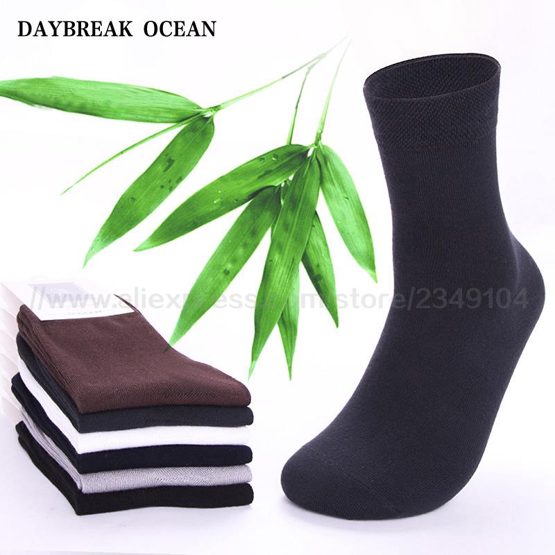 2017 Brand New 5 Pairs High Quality Men Cotton And Bamboo Fiber Socks Casual Anti-Bacterial Deodorant Summer Men's Socks B107(China (Mainland))