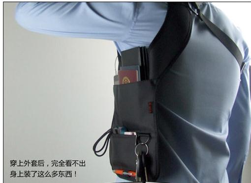 Anti Theft Hidden Underarm Shoulder Bag Holster Black Nylon Multifunction Redalex Inspector Shoulder Bag Agent Bond
