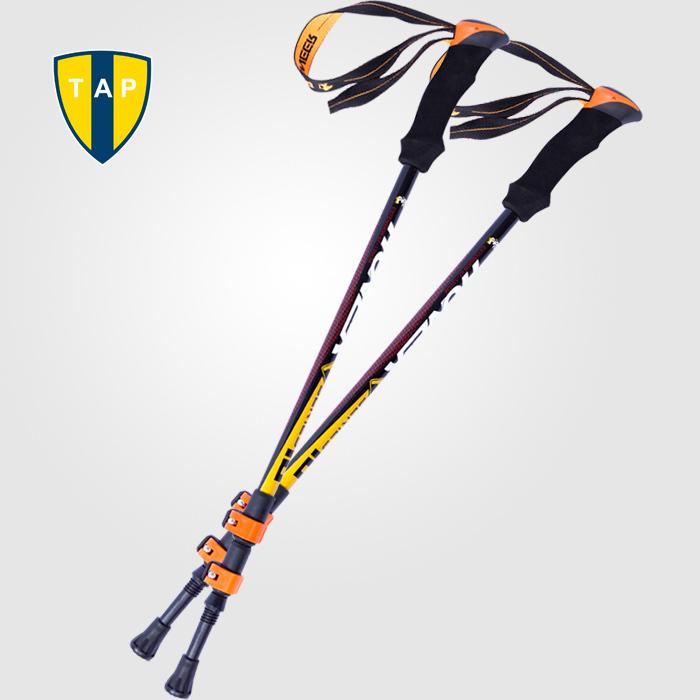 Ultra-light Adjustable Camping Hiking Walking Trekking Stick Alpenstock Carbon Fiber shooting Climbing Skiing Trekking pole(China (Mainland))