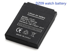 Free shipping 100% High Quality 1pcs Battery for DZ09 smart watch mobile phone battery 380 mAh battery watch battery