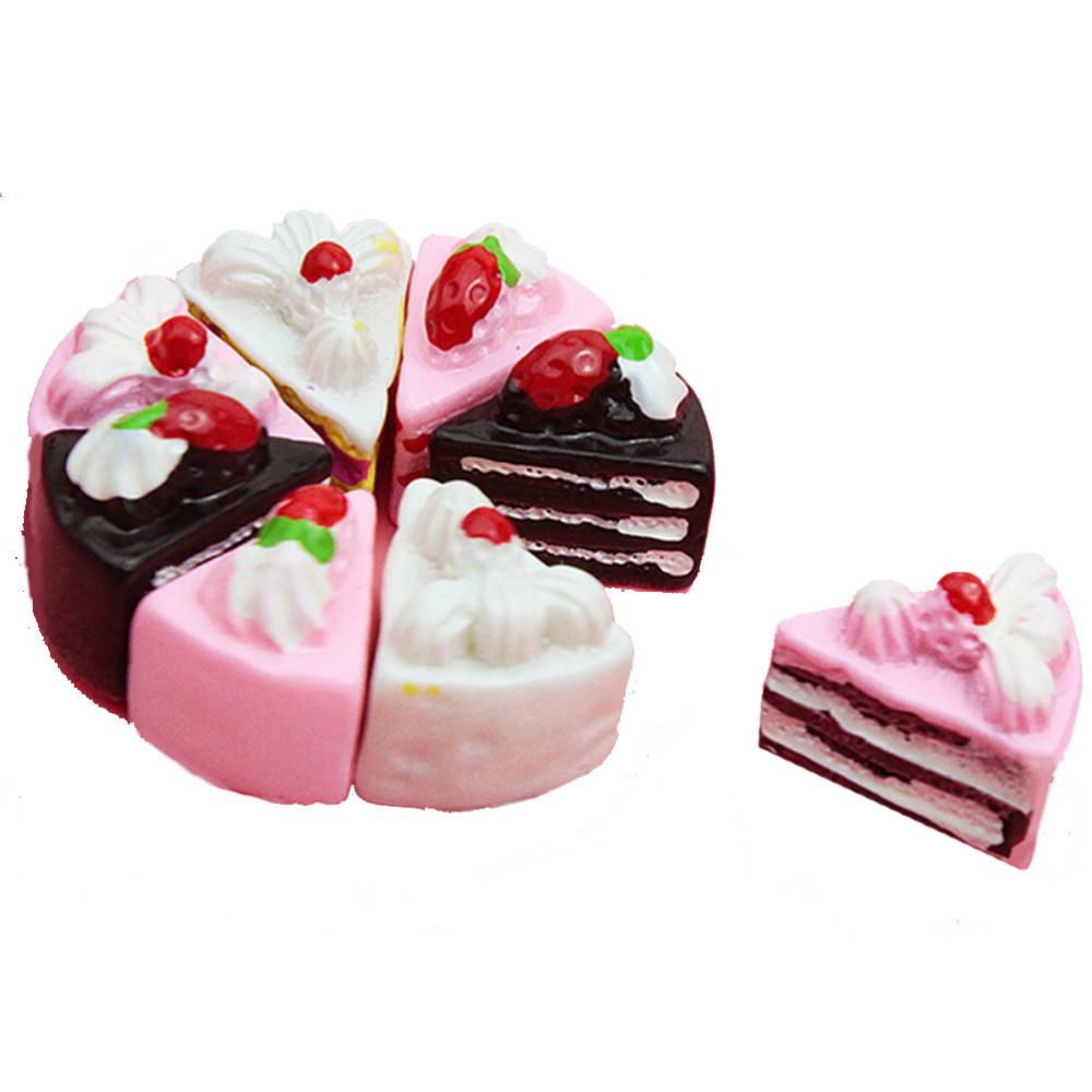 10 Pcs/set Resin Crafts artificial fake cake simulation mini Cake kitchen dessert decoration supplies(China (Mainland))