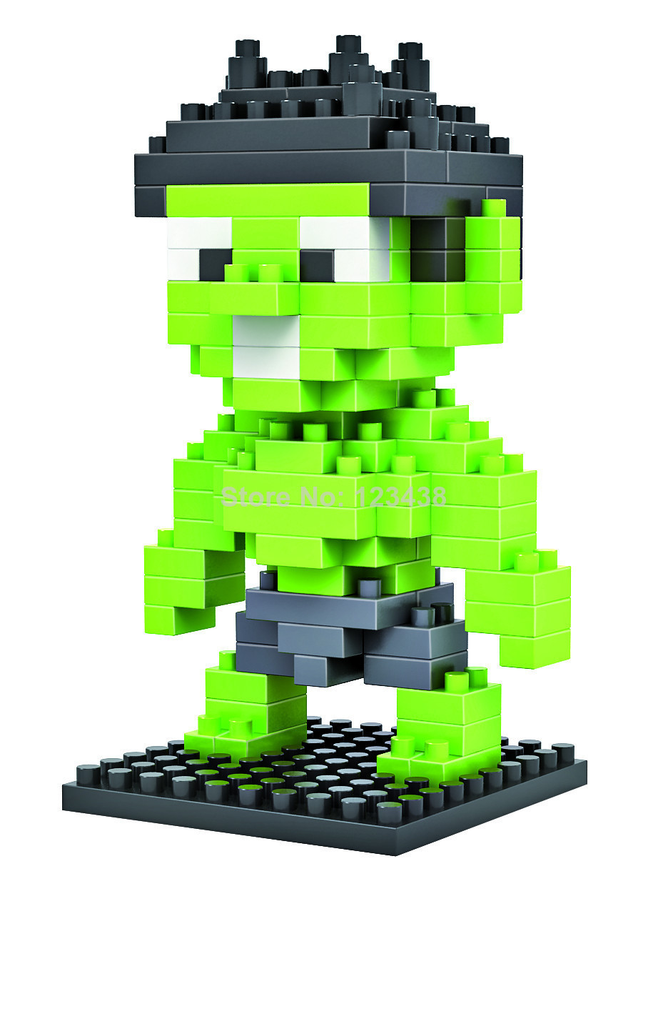 2015 Real Wooden Toys Montessori Brinquedos Hulk & Ironman Loz Diamond Blocks Toy Building Sets Educational Bricks - I love baby store