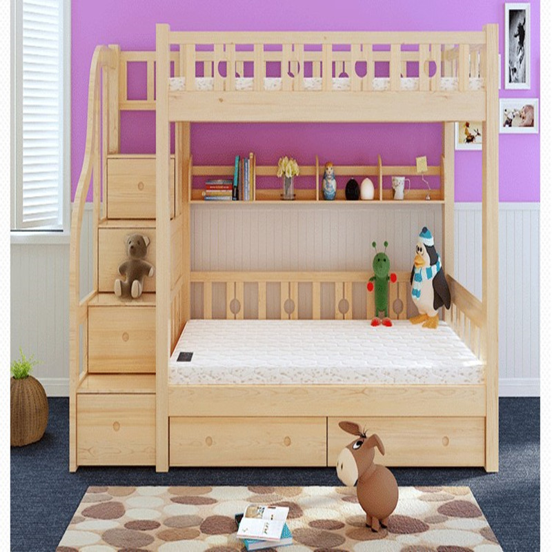 Cheap Wood Bed Double Bed Princess Bed Ladder Picture