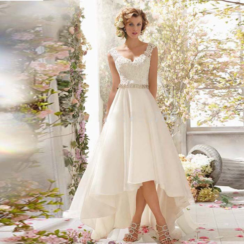 Buy fashion new high low wedding dresses for Wedding dress high low