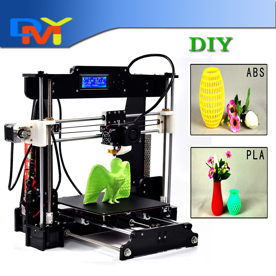 Big size 220 220 235mm High Quality Precision Reprap Prusa i3 3d Printer DIY kit with
