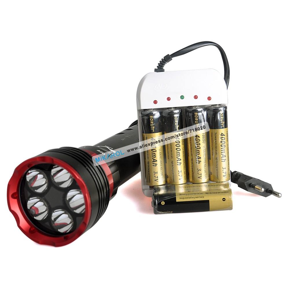 2015 Newest Super Bright LED Flash Flashlight 5x Cree XM-L L2 LED Lamp Waterproof 100M Underwater 6000 Lumens Lantern LED Light(China (Mainland))