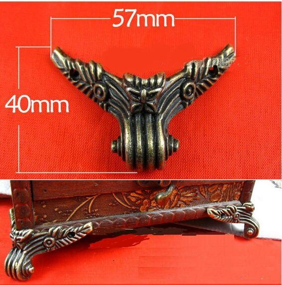 20pcs/lot Caskets corner  base foot  four sides foot  furniture pads alloy decorative foot<br><br>Aliexpress