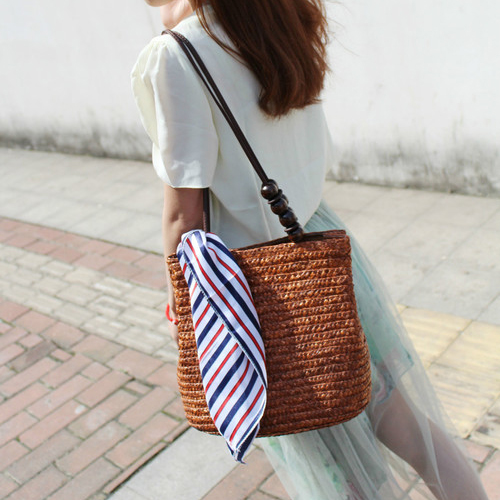 2016 New Fashion Women's Shoulder Handbag Tote Bags Straw Bag Women Summer Beach Bag Woven Bag(China (Mainland))