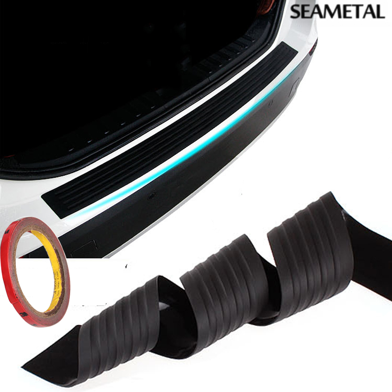 Car Styling Black Rubber Rear Guard Bumper Protector Trim cover For KIA Toyota VW BMW Chevrolet Mazda Audi Lada Seat Opel Ford(China (Mainland))