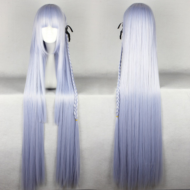 Promotion Fog Cut Kyoko 100cm Long Extend Straight Light Purple Cosplay Synthetic Wig<br><br>Aliexpress