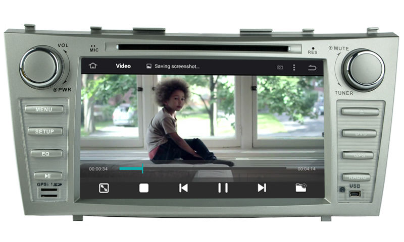 2 din Android 5.1.1 car stereo GPS navigation for TOYOTA CAMRY 2007-2011 Quad Core 8 inch 1024*600 screen radio RDS OBD Wifi 3G