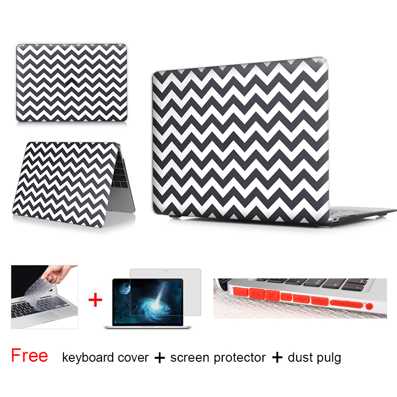 White Outline Black Laptop Computer Bag For Apple Mac Macbook Pro 15 Case  Cover Macbook Pro