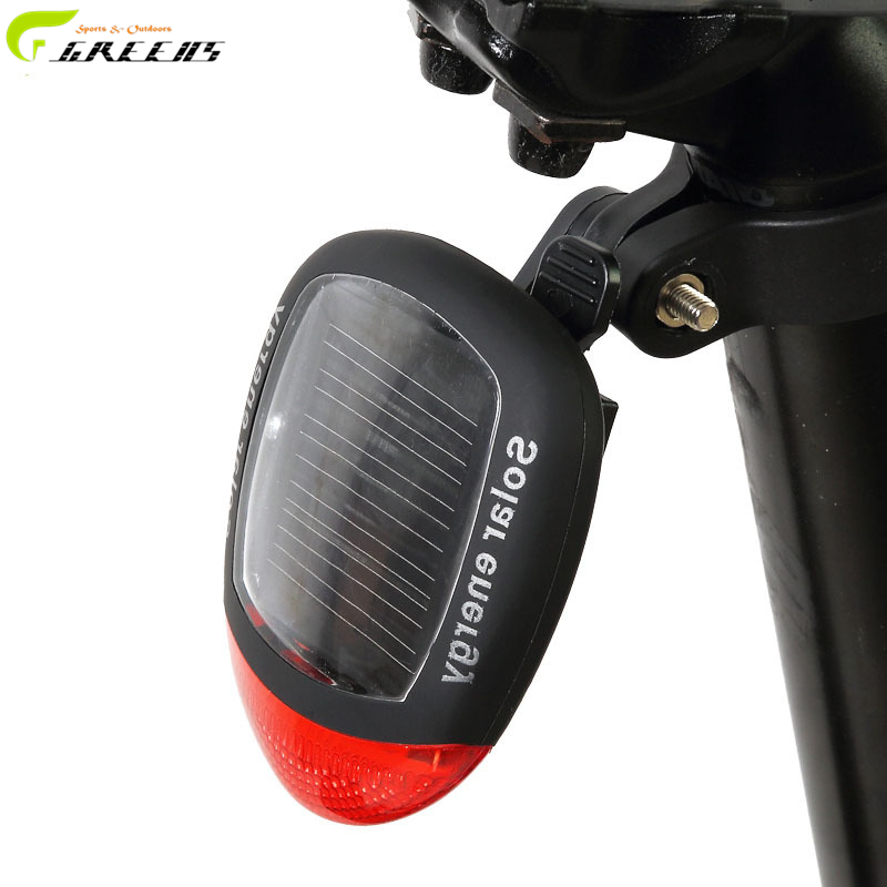Led Bike Light Solar Power Bicycle MTB Tail Rear Light Lamp Bike Accessories/Tail Light Taillight/Bicycle LED Light/Bycicle Lamp(China (Mainland))