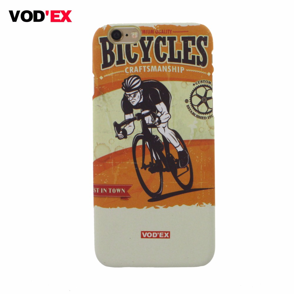VOD'EX New arrival Design Bicycle race Cell Phone Back Case for Iphone 5 5s 6 6s 6Plus 6s Plus(China (Mainland))