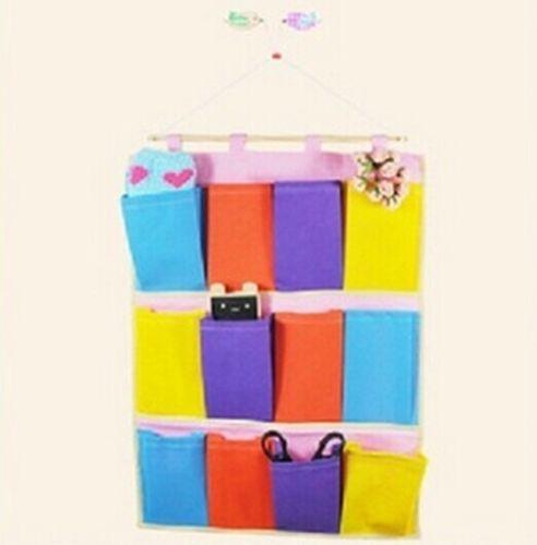 New Brand New 5/8/12 Pocket Organizer Container Wall Door Hanging Storage Bag SMO(China (Mainland))