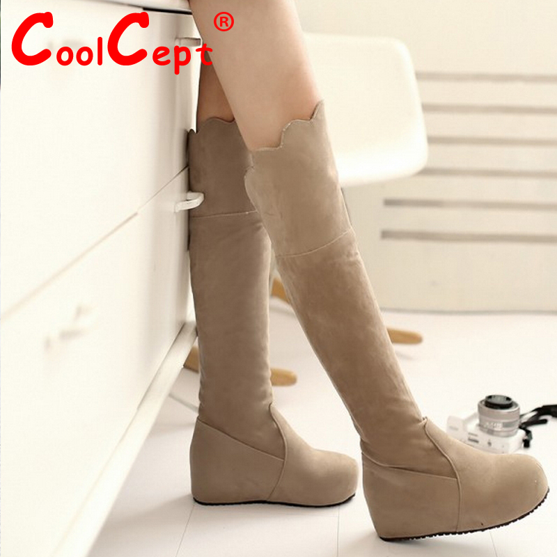 women flat over knee boots snow boot vintage warm winter botas round toe fashion masculina footwear shoes P19816 size 34-39<br><br>Aliexpress