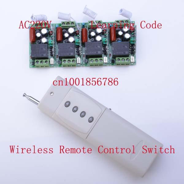 220v 10a 4ch Rf Wireless Remote Control Led Lights Switch