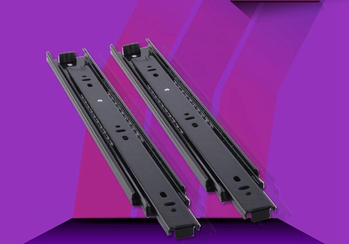 Drawer slide rail track three ball rail thickened superparamagnetic metal furniture accessories(China (Mainland))