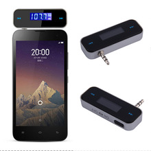 New 3.5mm  Mini Car FM Transmitter Kit Music FM With USB Cable for Mobile Phones hot selling(China (Mainland))