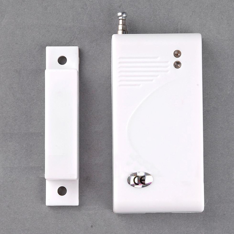 Hot Sale New White 433 Mhz Sensors & Alarms Contact Wireless Door Window Magnet Entry Detector Sensor(China (Mainland))