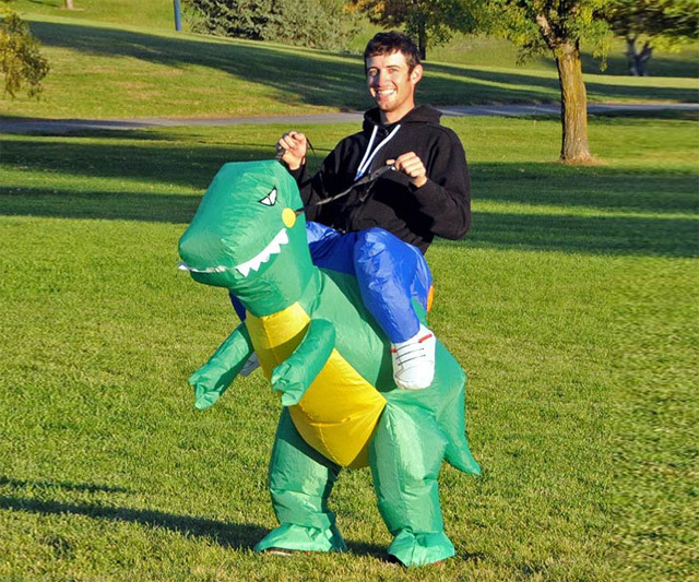 Fan Operated Inflatable Dinosaur Suit Adult Fancy Dress Suit Party Halloween Christmas Gift Inflatable dinosaur Costume(China (Mainland))