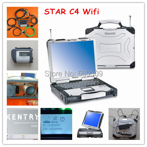 Super Wifi mb star c4 mb sd connect compact 4 + software 2015.07 hdd +for CF-29 laptop installed ready to work multi languages(China (Mainland))