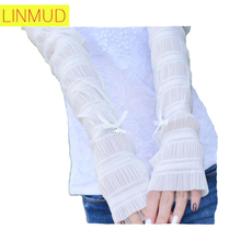 ^Miranda-Z^2016female Summer ice silk sunscreen cuff Korean arm sleeve car sunscreen thin section UV women Sunscreen Arm Warmers(China (Mainland))