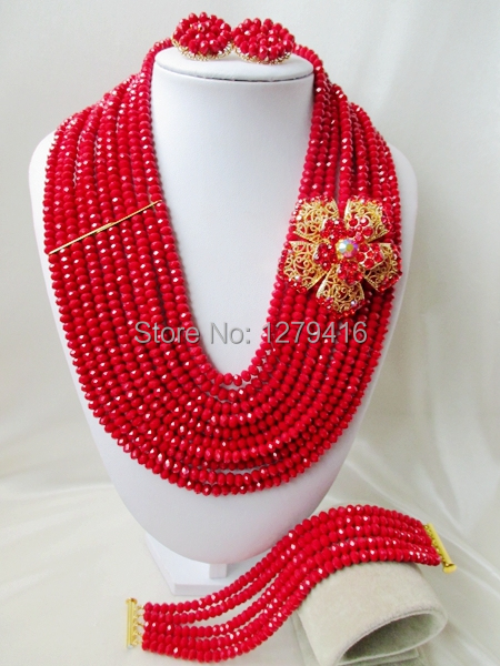2014 Rushed  Classic Women Crystal Jewelry Sets New Arrived Nigeria Jewelry Set Necklace Africa Beads Set  AAA154<br><br>Aliexpress