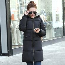 2016 New Fashion Winter Jacket Women Coat Women's Clothing Warm Outwear Cotton-Padded Long Jacket Coat Slim Lady Tops B191