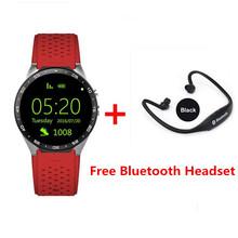 Buy 3G Kingwear KW88 Smart watch PK Finow X5 X61.39'' Amoled 400*400 Smart Watch 3G Calling 2.0MP Camera Pedometer Heart Rate for $102.60 in AliExpress store