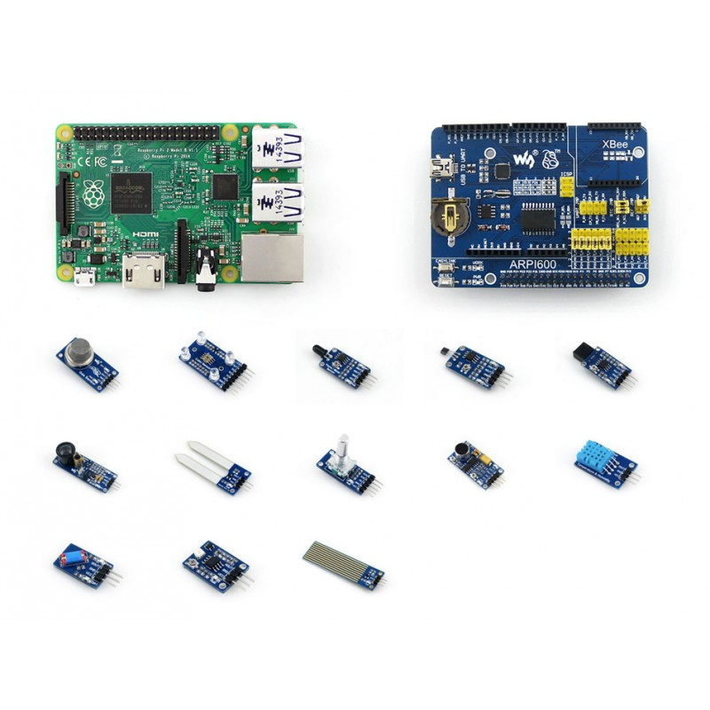 Raspberry Pi 2 B Package D including ARPI600 Expansion Kit + Sensors Pack+Raspberry Pi 2 Model B<br><br>Aliexpress