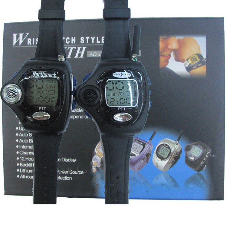Newest 2pcs Backlit Portable Watch Radio Pair Digital VOX Walkie Talkie Watch For Intercom Interphone Two Wrist Watch Way Radio (3)