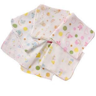 Baby Face Towels Washers Hand Cute Bib Cartoon Wash Cloth Cotton Baby Handkerchief