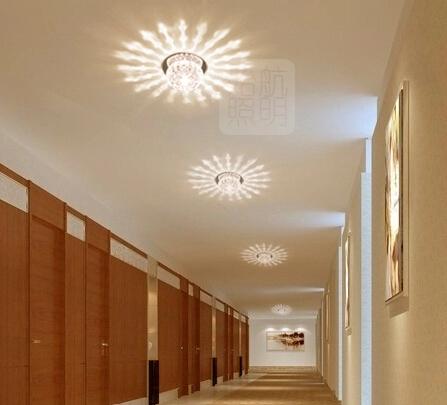 Koop 3w moderne slaapkamer woonkamer plafond licht geleid kristal lamp ...