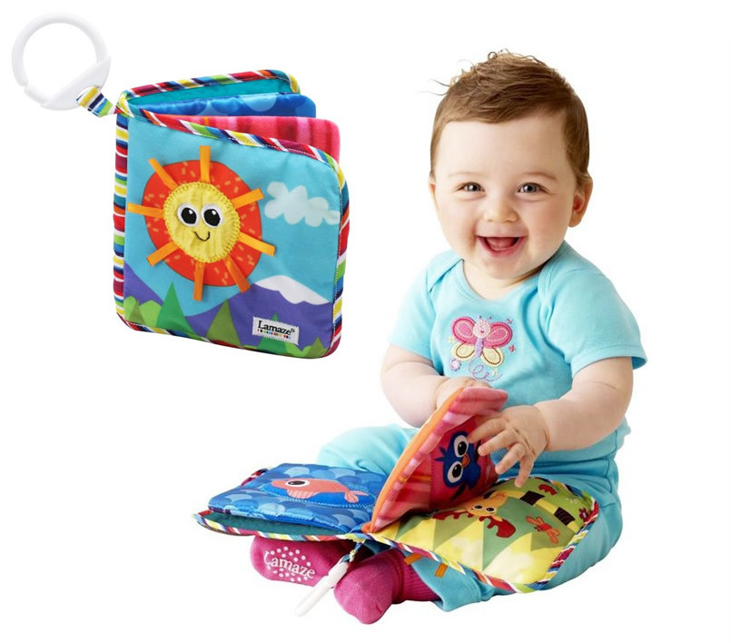 Baby Toy Infant Sun Cloth Book Toys Musical Doll Early Development Books Toy Learning & Education For 0-3Y(China (Mainland))