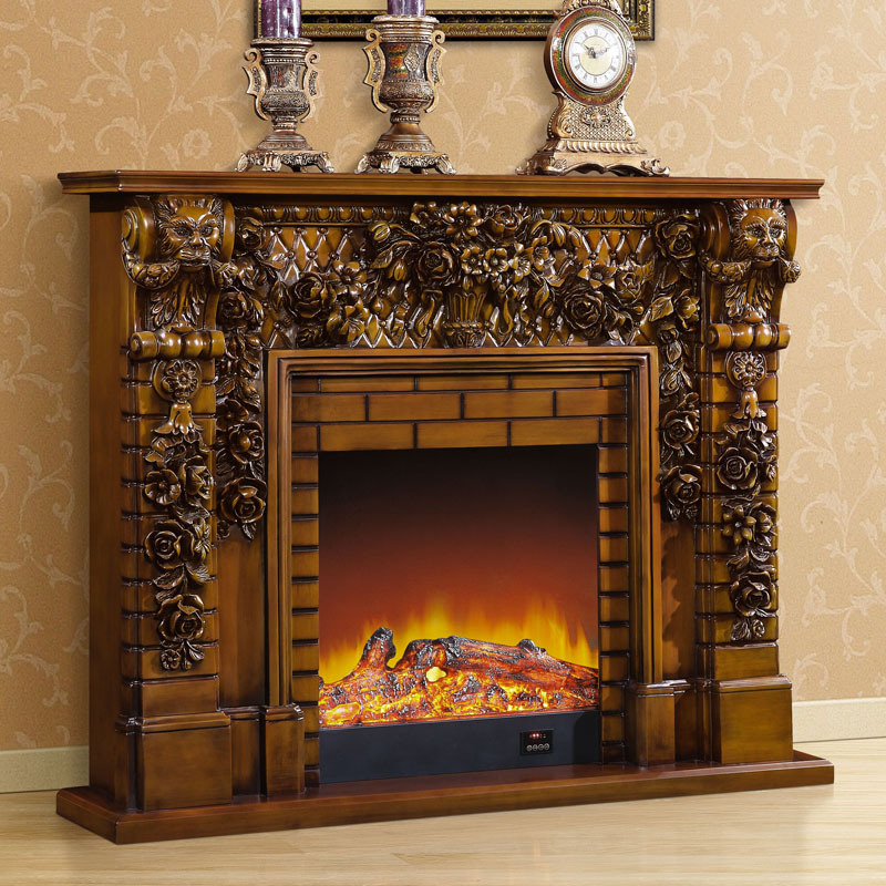 1 5 M High End European Style Fireplace Wood Carving Decorative Antique American Furniture White