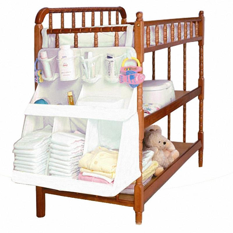 2016 Baby Diapers Bed Storage Hanging Bag Infant Large Cloth Organizer Pocket Beside Beds Kids Large Storage Bag QY-801(China (Mainland))