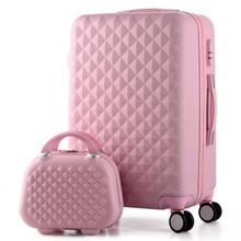 14 + 20 pollici, donna custodia da viaggio valigie, diamante borsa di viaggio dei bagagli, abs bagaglio di viaggio, trolley, valigia su ruote(China (Mainland))