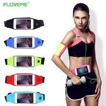 Buy FLOVEME Sports Outdoor Gym Waist Phone Case iPhone 6 6s iPhone 7 Plus Card Holder Earphone Hole Belt Running Wallet Bags for $3.29 in AliExpress store