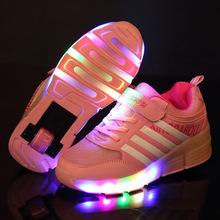Enfant Jazzy de Wheely LED Lumière Heelys Patin À Roulettes Chaussures, Patin À Roulettes enfants Chaussures, Junior Filles/Garçons Sneakers Avec Roues(China (Mainland))