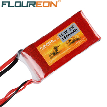 FLOUREON 3S 11.1V 1500mAh 35C Li-Polymer Battery Pack (XT60 Plug) Red for RC Control Toys Rechargeable Battery(China (Mainland))