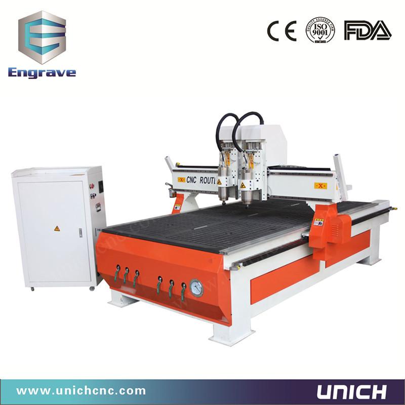Multifuction Mdf&Wood&Acrylic 1325 cnc router/double spindle engraving cnc/cnc acrylic cutting machine(China (Mainland))